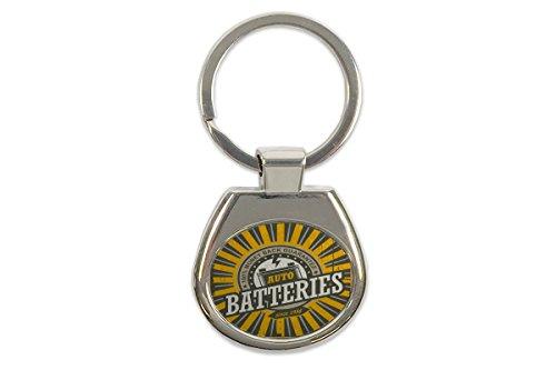 Schlüsselanhänger Oldtimer Auto Batterie Bedruckt
