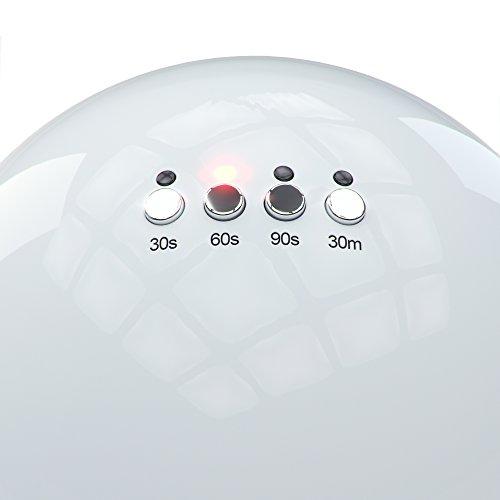 NailStar Professionelle LED Nagellampe mit 30/60/90s Timer für Shellac + Gel Nägel | Weiß