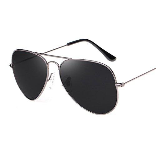 Gafas de sol de diseñador de metal clásico para hombre y mujer, gafas de sol de conducción con protección de piloto clásico aviador polarizado UV400 con marco de metal de primera calidad ( Color : 3 )