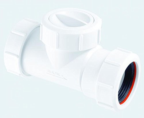 McAlpine T28M-NRV Multifit - Válvula de retención en línea, color blanco
