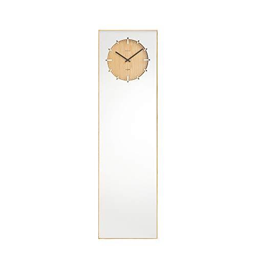 Leff Amsterdam - spiegel met geïntegreerde klok, wandspiegel, staande klok - Inver- Natural