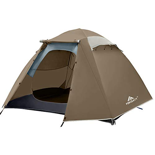 Forceatt Zelt 4 Personen Camping Wasserdicht 3-4 Saison,Ultraleicht Zelte Mit Kleinem Packmaß, Kuppelzelt Sofortiges Aufstellen Für Trekking, Outdoor, Festival.