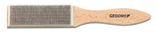 GEDORE Feilenbürste, für Feilen und Raspeln, Borsten 10 mm, mit Holzgriff, Drahtbürste, 250 mm lang, 645