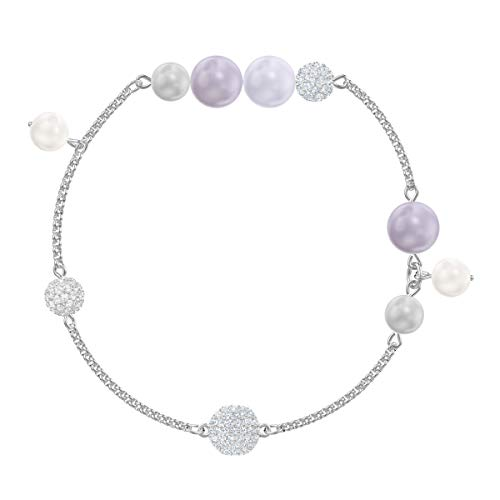 Swarovski Remix Collection Armband voor vrouwen, parel strand, veelkleurig kristal, gerhodineerd