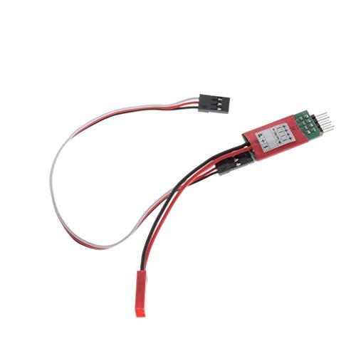 Sharplace Interruptor de Control de 3 Canales Cable de Receptor Modelo de Coche 4 Luces LED para Coche RC - Estilo 2 Negro