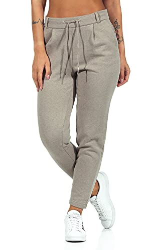 Only ONLPOPSWEAT Every Life Easy PNT Noos Pantalón de Vestir, WalnutDetail:Pure Cashmere Melange, L/30 para Mujer