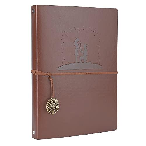 A4 Libreta Bonitas Cuaderno de Cuero, AIOR Vintage Diario de Viaje Recargable...