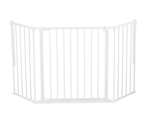 BabyDan Barrière de sécurité enfant multi-fonction, blanc (M) 90-146cm