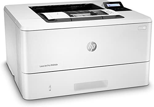 HP LaserJet Pro M404dn W1A53A, Impresora A4 Monofunción Monocromo, Impresión a Doble Cara Automática, Gigabit Ethernet, USB 2.0, HP Smart App, Pantalla Gráfica LCD, Blanca