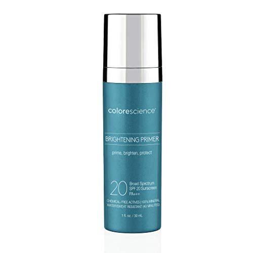 Colorescience Brightening Primer SPF 20, Water Resistant Mineral Sunscreen, Unscented, 1 Fl Oz