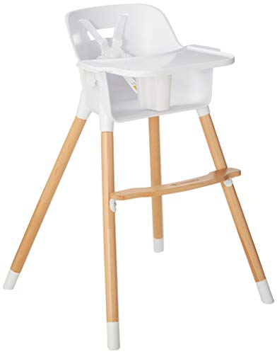 Be Mindful Baby High Chair, White