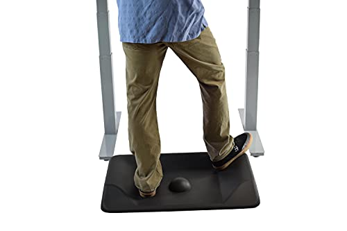 ACTIVE STANDING MAT not flat ergonomic anti fatigue mat for standing desks contoured thick cushioned comfort massaging floor mat stand up accessories office warehouse large varied terrain