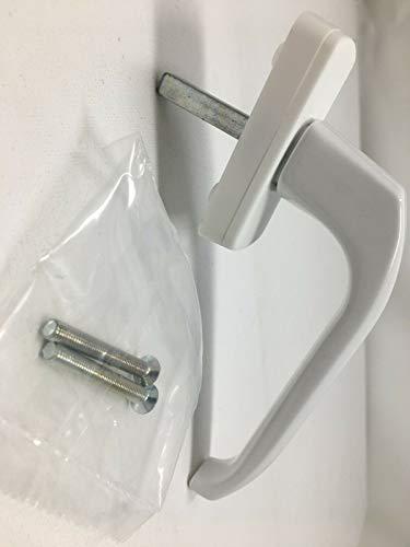 1 Stck Fenstergriff Aluminium-Druckguss RAL9016 Stiftlänge 38mm inkl. 2 Oliv