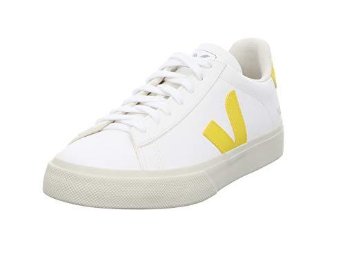 Veja Campo Zapatillas Moda Hombres Blanco/Amarillo Zapatillas Bajas Shoes