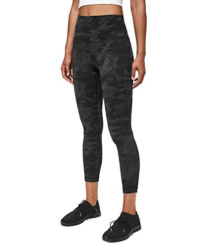 Lululemon Align II Stretchy Yoga Pants - High-Waisted Design, 25 Inch Inseam, Incognito Camo Multi Grey, Size 4