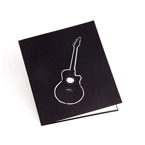 YXDS Grußkarte 1Pcs 3D-Gitarre Pop-up-Karte Geburtstagskarte Aushöhlen Grußkarte Postkarte Einladung Ehe Liebesbriefe Nachrichten