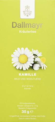 Dallmayr Tee Aufgussbeutel - Kamillen Tee, 1er Pack (1 x 35 g)