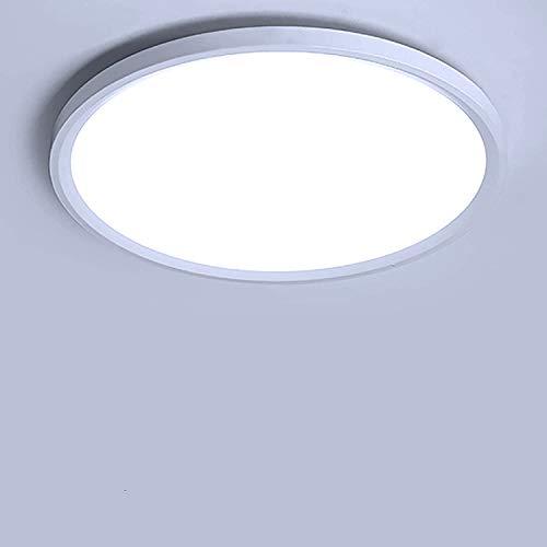 Yafido LED Deckenlampe Ultra Slim 28W 2520Lm UFO LED Panel 6500K Kaltweiß LED Deckenleuchte für Wohnzimmer Schlafzimmer Flur Büro Küche Küche Balkon und Esszimmer Nicht-dimmbar Ø30 cm