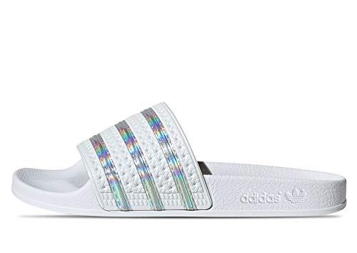 adidas Adilette W, Zapatillas de Running Mujer, Crywht Ftwwht Crywht, 42 EU