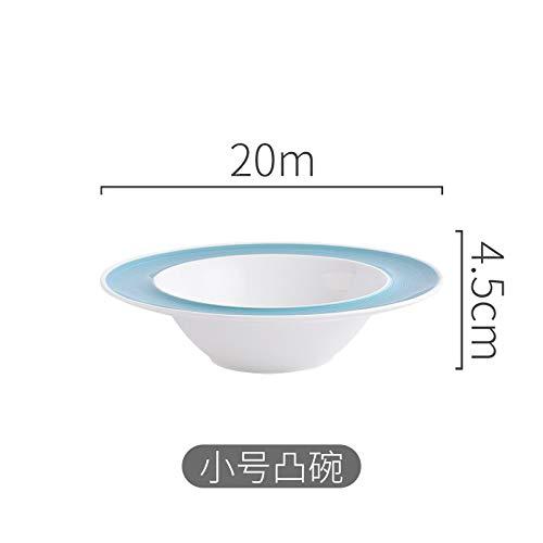 GYHJG Keramikgeschirr Mit Glasurfarbe Im Japanischen Stil, Gestreifte Platte Ming-Ofen-Hotelrestaurant-Suppenschüssel