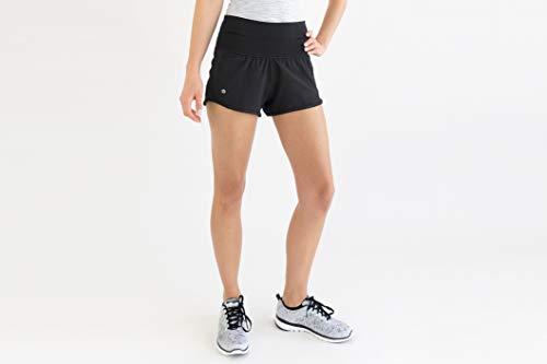 FlipBelt FBRS10-BLK-M-BLK-Medium Women's Running Shorts, Black