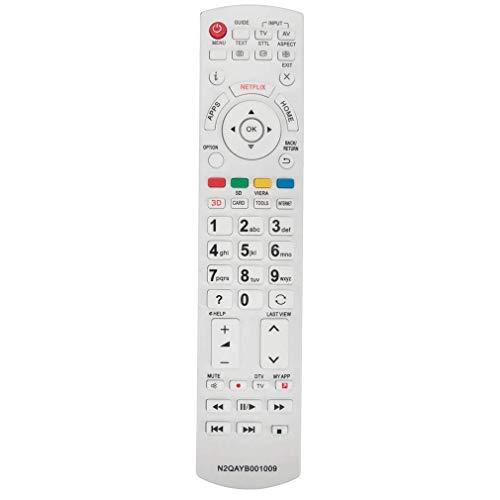 VINABTY N2QAYB001009 Reemplazo del Control Remoto para Panasonic TV LCD LCD TX-40DS400E TX-24CS500B TX40DS500B TX-40DS500B TX-40DS500E TX40DS503E TX-24CS500E TX-40DS503E TX-40DSU501 TX-40DSW404
