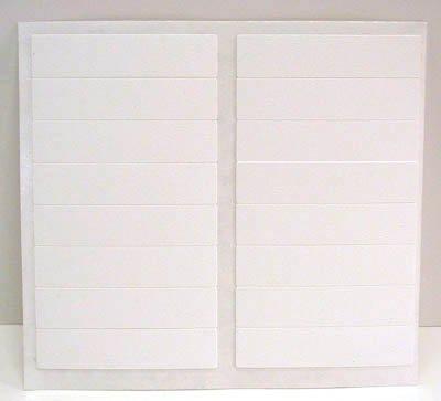 FastCap Adhesive Cover Caps Castle Cap PVC White (1 Sheet 16 Cap