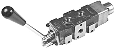 """CROSS Manufacturing 170708 SS Series Iron Five Spool Expandable Sectional Hydraulic Directional Control Valve, 9/16""""-18 x 9/16""""-18 x 9/16""""-18 SAE Female, 3500 psi, Grey from CROSS Manufacturing"""