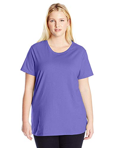 Just My Size Women's Plus-Size Short Sleeve Crew Neck Tee, Petal Purple, 3X