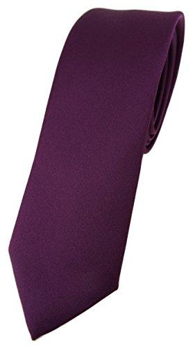 TigerTie Corbata de diseño estrecho en un solo color, ancho de corbata de 5,5 cm., Burdeos Violeta, Talla única