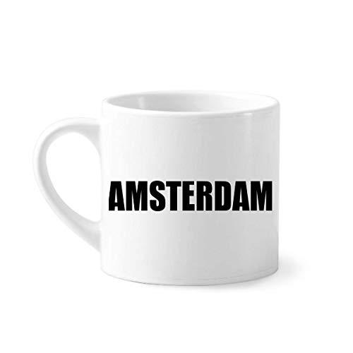 DIYthinker Amsterdam Nederland Naam Mini Koffie Mok Wit Aardewerk Keramische Beker Met Handvat 6oz Gift