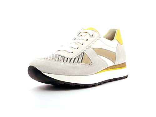 Paul Green Damen Sneaker 4918, Frauen Low-Top Sneaker, feminin elegant Women's Women Woman Freizeit leger Halbschuh Lady,MET Ice/ORO,40.5 EU / 7 UK