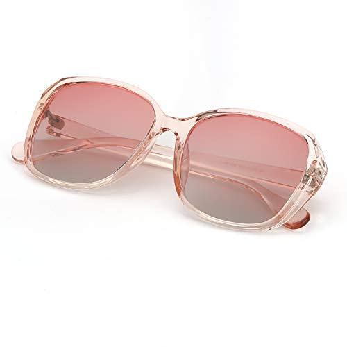 TosGad gafas de sol polarizadas cuadradas de gran tamaño para mujeres, gafas de sol grandes de protección UV 100%