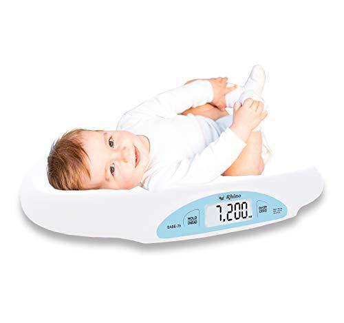 Rhino BABE-25. Báscula Digital para bebés 25 kg / 5 gr. Fabricada en plástico ABS, pantalla luminosa,…