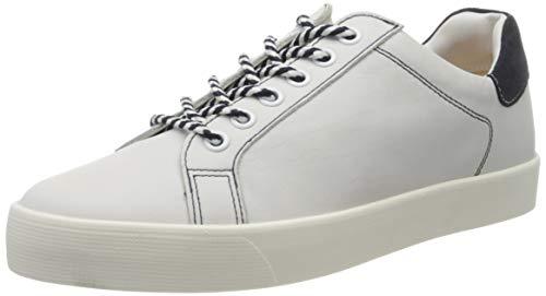 Caprice Damen Schnürer Sneaker, Weiß (White/Ocean 182), 40 EU