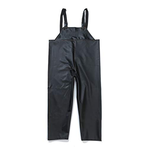 Rubber regenbroek, overalls Oil Resistant outdoor Motorcycle Man Strong Waterdichte regenbroek (Size : L)