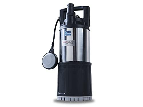 Tauchpumpe Wasserpumpe Gartenpumpe Klarwasser 6000 l/h 1200 Watt 4 Bar Starkwerk SW-K 1200