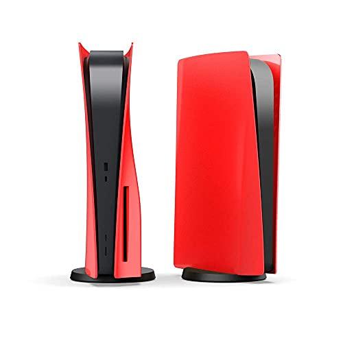 Einuz Carcasa protectora Panel de cubierta para consola de juegos PS5 CD-ROM Disc Edition (rojo)