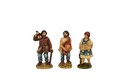 Set 24 Statue Presepe di qualità per Realizzare Presepi di Natale Napoletano Statuine Pastori in Resina dipinte a Mano Personaggi Mestieri Contadini Figure Diverse 89cm