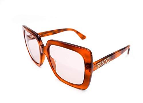 Gucci GG0418S 005 Havana GG0418S Vierkante Zonnebril Lens Categorie 1 Maat 54mm