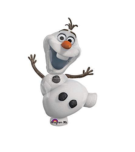 paduTec Ballon XXL Folienballon Luftballon - Frozen die Eiskönigin Olaf der Schneemann - Geburtstag Kindergeburtstag Überraschung Deko - geeignet zur befüllung mit Luft oder Helium Gas