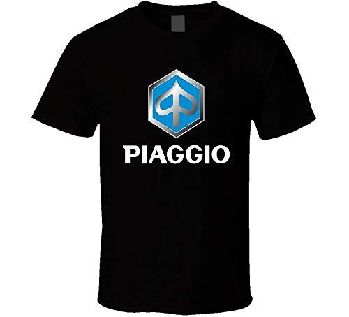 Piaggio Motorcycle Scooters Shirt Black White Tshirt Men's Black L