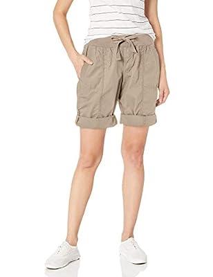 "Calvin Klein Women's Convertible Cargo Bermuda Short with 8""-12"" Inseam, Latte, Small"