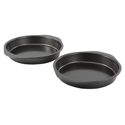 Baker's Secret 98339 2-Piece Twin Pack Round Cake Pan, 8-Inch
