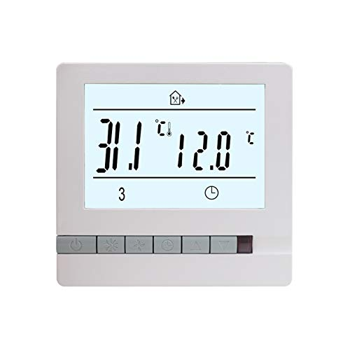 XIAOFANG Fangxia Store Termostato de calefacción de Piso 16A 220V Regulador de Controlador de Temperatura Universal Internacional con Control Manual/período