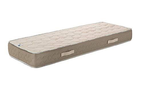 Matelas Latex Naturel + Alèse 90x190 x 23 cm Ferme - Tissu 100% Coton - 7 Zones de Confort - Noyau Poli Lattex HR Dernière Génération - Très Respirant