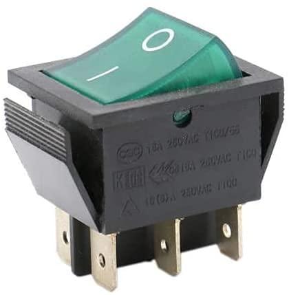 1x Interruptor Verde Basculante ON-OFF DPST, 4 Pin DPST ON/Off,Interruptores AC 250V /6A 125V /10A,Encaje en El Interruptor Basculante del Barco,para Coche,Barco,Electrodomésticos