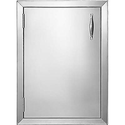 Mophorn BBQ Access Door 16 x 22 Inch Vertical Outdoor Kitchen Door Left Hinged Stainless Steel Access Door for Outdoor Kitchen