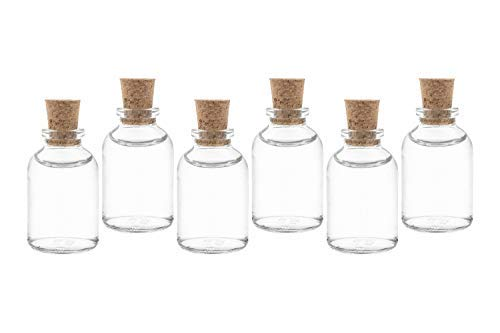 casavetro Bottigliette Vetro con Tappo Sughero - 25 50 ml - Bottiglia Vuota in Vetro per Vino, Liquore, Acqua, Succo di Frutta, Conserve, Latte, Olio, Birra, Vino, Estratti, Amari (25 x 25 ml)