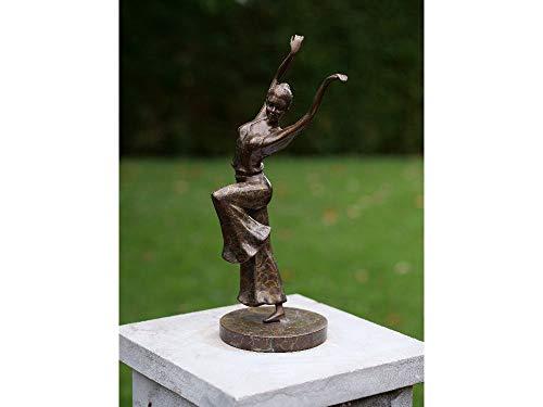 H. Packmor GmbH bronzen sculptuur jongen danseres ballerina figuur beeldje van brons 11x32x11cm